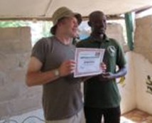 Chris Packham rewarded for his contribution in promoting bird watching in The Gambia